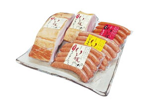 【送料無料】旭食肉協同組合 ハム工房 製造 オリジナル 千葉 ブランド 銘柄 いも豚 ギフト プレゼント(粗挽き チーズ チョリソー ウィンナー 各150g(30g×5本)  7日間 熟成 ベーコン ロースハム