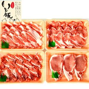 千葉 ブランド いも豚 お肉 ギフト 計1.3kg しゃぶしゃぶ 1kg(350g×3種 ロース カタロース バラ) いも豚 ロース 切身 100g×3 ポークソテー とんかつ トンカツ 豚カツ 冷凍 真空 賞味期限 90日 景品