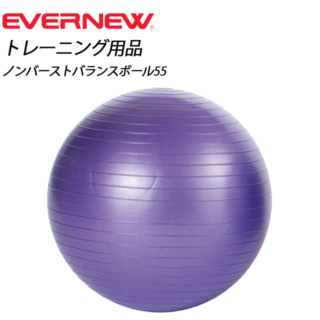 EVERNEW(エバニュー) ノンバーストバランスボール55 【パープル】