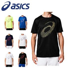 ネコポス アシックス メンズ ランニング トレーニング Tシャツ 半袖 丸首 ビッグロゴショートスリーブトップ マラソン 2031A669 asics