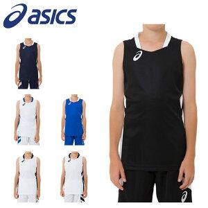 ネコポス アシックス ジュニア バスケットボール シャツ 袖なし ノースリーブ Jr.ゲームシャツ 吸汗速乾 2064A009 asics