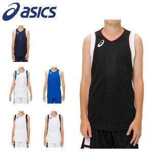 ネコポス アシックス ジュニア バスケットボール シャツ 袖なし ノースリーブ Jr.ゲームシャツ 吸汗速乾 2064A013 asics