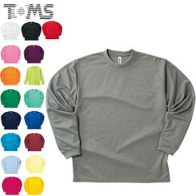 ネコポス トムス 長袖Tシャツ ジュニア キッズ 無地 ロングTシャツ ロングスリーブTシャツ L/S Tシャツ ロンT 4.4ドライ 140-150 ウェア トップス シンプル TOMS 00304A