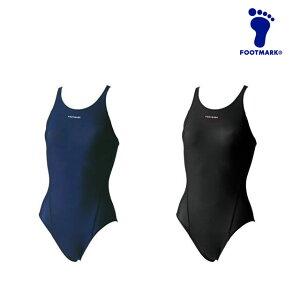 ネコポス フットマーク ジュニア 水着 水泳 フィットネス スマイル ワンピース 女の子 FOOTMARK 101568J2