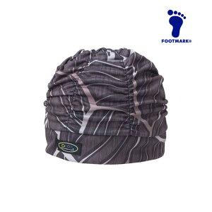 ネコポス フットマーク メンズ レディース 水泳 フィットネス 帽子 キャップ スイム ユッタリアクアキャップギャザーマジックロー 水中運動 水中ウォーキング ゆったり ユニセックス FOOTMARK