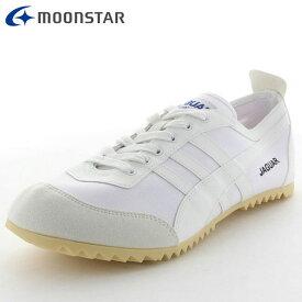 ムーンスター シューズ メンズ レディース スニーカー ジャガーエースG ホワイト 12320341 MS 毎日履く通学シューズに嬉しい軽量設計 サイドラインが特徴的