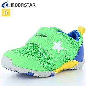 ムーンスター シューズ キッズ キャロット MS C2166 グリーン 12178637 カジュアルシューズ 子供靴 シンプルなデザイン 履き口が大きく開く スニーカー メッシュ