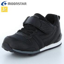 ムーンスター ランニングシューズ キッズ キャロット MS C2121PL ブラック 12179306 子供靴 大人っぽくスポーティーなデザイン ゴム紐と甲バンドタイプ 脱ぎ履きしやすい スニーカー 運動靴