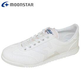 ムーンスター シューズ メンズ レディース ワーク ジャガーΣ04CL ホワイト 12320161 MS ひも靴タイプ 軽量 通学履きから日常履きまで幅広い スクール 業務用 スニーカー