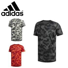 ネコポス アディダス Tシャツ メンズ 半袖 丸首 オウンザラン カモ 迷彩 ランニング FTZ24 adidas