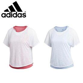 ネコポス アディダス Tシャツ レディース ランニング 半袖 ADAPT2IN1 W ジョギング マラソン FTZ62 adidas
