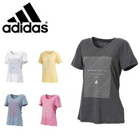 ネコポス アディダス Tシャツ レディース 半袖 WM4Tメッセージプリント トレーニング 軽量 透け防止 吸水速乾性 FYB73 adidas