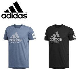 ネコポス アディダス Tシャツ メンズ ランニング 半袖 丸首 RUNITBOSグラフィック ビッグロゴ GDV44 adidas