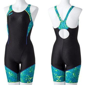☆アシックスレディース競泳水着W'Sスパッツ縫い付けカップ仕様はっ水フィットネス水泳asics女性用2162A071