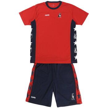 ☆サッカージャンキー上下セットシャツパンツジュニアサイズ対応サッカーフットサルウエア半袖ショートパンツ練習トレーニングCP19008即日出荷あす楽対
