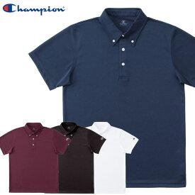 ネコポス チャンピオン 半袖シャツ メンズ ボタンダウン ポロシャツ C3MB397 Champion 素早くドライ 抗菌 防臭機能 スポーツウエア 普段使い