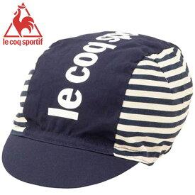 ルコック スポルティフ 帽子 メンズ レディース ユニセックス ストライピーキャップ CAP ストライプ柄 サイクリングキャップ アクセサリー 用具 用品 小物 サイクリング 自転車 トレーニング フィットネス M-XO le coq sportif QCANGC06