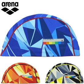 ネコポス アリーナ タフキャップ メンズ レディース ユニセックス 水泳帽 スイムキャップ スイミングキャップ タフキャップ プリント柄 水泳 スイミング プール トレーニング フィットネス 用具 アクセサリー 小物 M-L arena ARN0411