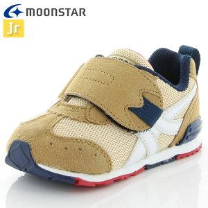 ムーンスター ベビー シューズ キャロット MS B150 ベージュ 12115928 MOONSTAR ジョギングシューズ 2E つま先ゆったり 運動靴 洗えるインソール 子供靴
