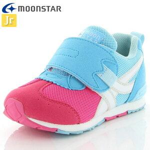 ムーンスター キッズ ジョギングシューズ キャロット MS C2255 ピンク/サックス 12180654 MOONSTAR スニーカー 高機能インソール 2E つま先ゆったり 運動 子供靴