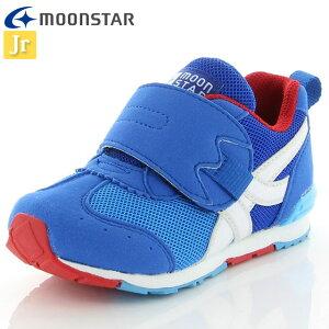 ムーンスター キッズ ジョギングシューズ キャロット MS C2255 ブルー 12180655 MOONSTAR スニーカー 高機能インソール 2E つま先ゆったり 運動 子供靴