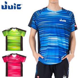 ネコポス ジュウイック スポーツウエア 卓球 メンズ レディース ウェーブレイブ JUIC 5591 半袖シャツ 軽量 吸汗速乾 ユニフォーム トレーニングウエア