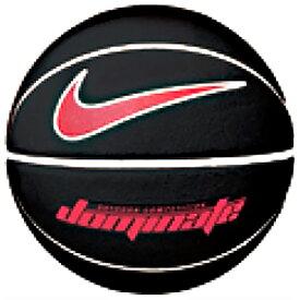 ナイキ バスケットボール ドミネート 8P NIKE BS3004 屋外のプレーに適した耐久性のある素材 あらゆるプレーでのコントロール性を発揮 ボール ブラック/ユニバーシティレッド