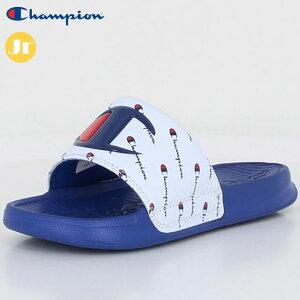 チャンピオン サンダル キッズ ジュニア CP KS019 KIDS SLEIGH ホワイト/ブルー 55130145 CHAMPION シャワーサンダル 足なじみの良いフットベッド スポーツサンダル