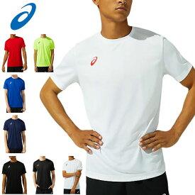 ネコポス アシックス スポーツウエア メンズ ショートスリーブトップ asics 2031C243 半袖 Tシャツ 優れた速乾性を追求した素材 ワンポイントロゴデザイン マルチスポーツ トレーニングウエア
