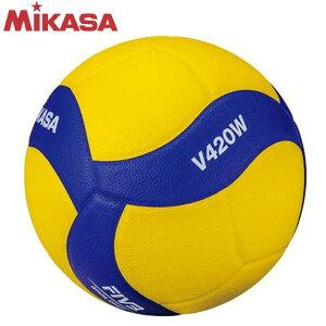ミカサ MIKASA バレーボール 練習球 4号球 V420W ブルー/イエロー 中学校 家庭婦人用