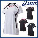 asics (アシックス) バレーボール XW1317 W'SゲームシャツHS 半袖 吸汗速乾 UVケア サイバードライ【1102】【レディース】