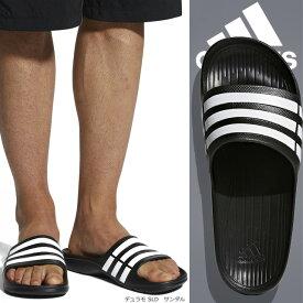 アディダス スポーツサンダル デュモラ シャワーサンダル 速乾性 軽量 プール 海 サンダル ブラック DURAMO SLIDE adidas G15890 メンズ レディース ユニセックス