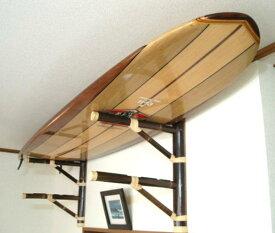 人気商品 バンブーサーフボードラック 竹素材 2本用 収納ラック サーフィン