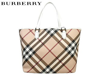 Burberry BURBERRY PRORSUM ★ bags (tote bag) 3489041 beige × white LL NICKIE Super Nova check tote bag with pouch SUPERNOVA sale! Women's casual commuter