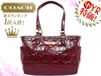 And writing coach COACH ★ reviews! Bags (tote bag) F19462 Crimson Gallery embossed patent Tote outlet product discount % Ladies work casual back sale SALE store