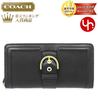 And writing coach COACH ★ reviews! Purse (wallet) F50011 black Campbell leather buckle accordion zip around outlet product discount % Women's sale-SALE store