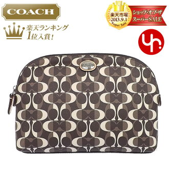 Coach COACH ★ bag (pouch) F50064 Brown / Tan Peyton dream signature cosmetic case outlet product discount % Women's sale-SALE store
