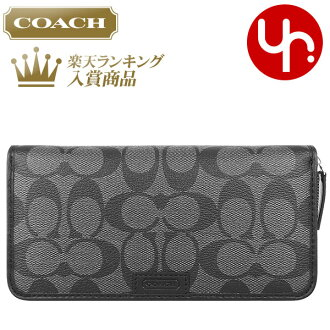 coach bag usa outlet fpf9  And writing coach COACH  reviews! Purse wallet F74737 Charcoal / Black  Heritage signature accordion zip wallet outlet products cheap!