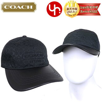 Coach COACH ★ apparel (hats) F83614 black signature Jacquard baseball cap outlet products cheap! Men's women's brand sale store SALE 2014 mother day YR limited price