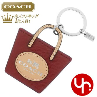 Coach COACH ☆ accessories (key ring) F62984 Crimson Parker saffiano leather  Metro horse  amp  carriage Tote Keyring outlet products cheap! 1f2df1017f29
