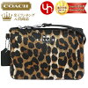 Coach COACH ★ accessory (pouch) F52143 natural multi Peyton Ocelot print small wristlet outlet products cheap! Women's brand sale store SALE 2014 YR limited price