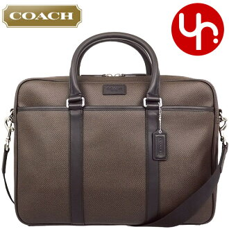 Coach COACH ★ bags (business) F71389 espresso heritage check leather slim Briefcase outlet products cheap! Men's women's brand sale store SALE also commute 2014 YR limited price back Christmas Xmas