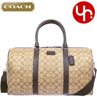 教练教练包袋 F93303 卡其色 / 棕色教练遗产签名条纹粗呢出口价格便宜男装女装品牌销售的产品存储销售旅行 2015年圣诞 YR 有限的价格回