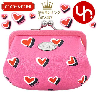 coach coin purse outlet 6o5o  Cheap COACH purses coach  coin F63239 pink multi color luxury  Valentine's Day heart print framed coin Perth outlet items! Women's brand  sale store SALE