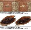 Coach COACH ★ accessory (pouch) F52853 Brown x black luxury signature PVC leather double corner zip wristlet outlet products cheap! Women's brand sale store SALE 2015 mother day ★ points 2 x time sale