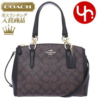 教练教练袋手提袋审查和写以下时间为 F36718 布朗 x 黑教练豪华签名迷你克里斯蒂旅行包产品在出口价格便宜的女装品牌销售大卖场也夏天的手提袋