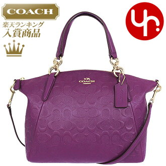 Coach COACH bag handbag F36058 plum coach luxury debossed signature leather  small Kelsey satchel products at outlet prices cheap womens brand sale  store ... f29ca76440