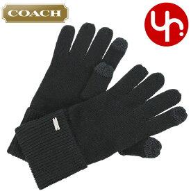 8fa73b8bd479 コーチ COACH アパレル 手袋 F34259 ブラック 特別送料無料 コーチ COACH ロゴプレート ニット スマホ タッチ