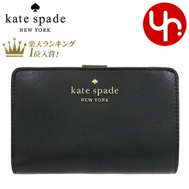 ケイトスペード kate spade 財布 二つ折り財布 WLR00128 ブラック 特別送料無料 ステイシー レザー ミディアム コンパクト バイフォールド ウォレット アウトレットレディース ブランド 通販 L型 2021