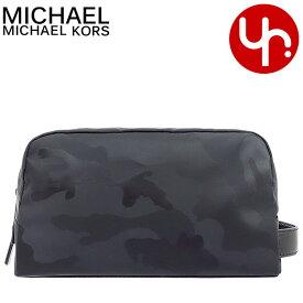286da320ae35 マイケルコース MICHAEL KORS 小物 ポーチ 36T7LKNV1U ブラック 特別送料無料 ケント カモフラージュ メンズ トイレタリー  ホルダー